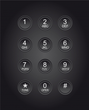 wireles: black phone dial with numbers, close up