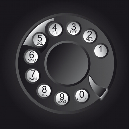 bakelite: Rotary Phone Dial with numbers and letters