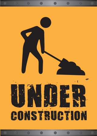 Under construction background, black and yellow, Vector illustration Vector