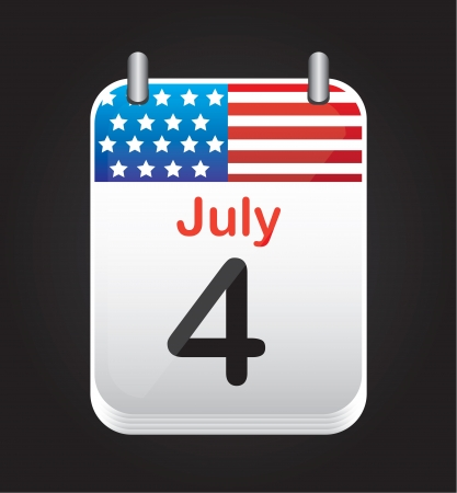 4 July background, independence day calendar, Vector illustration Vector
