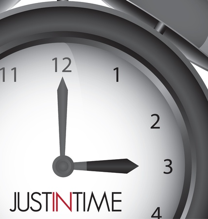 just in time: Just in time clock illustration, vector design