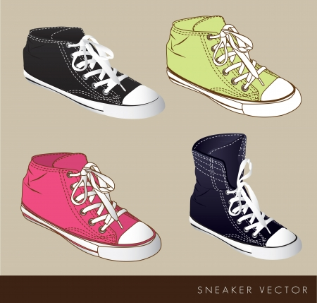 Black green and fucsia tennis on beige background, vector illustration Vector