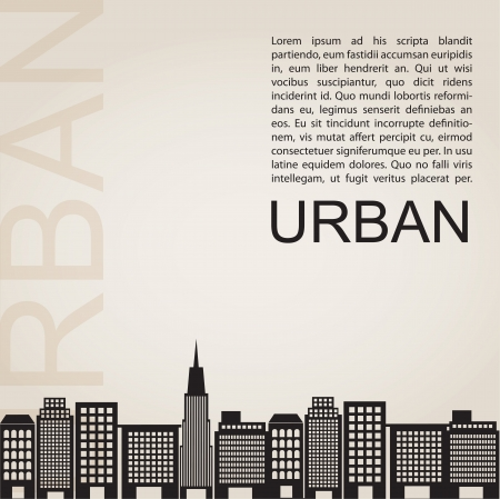 Silhouette of city, urban concept, vector illustration Vector