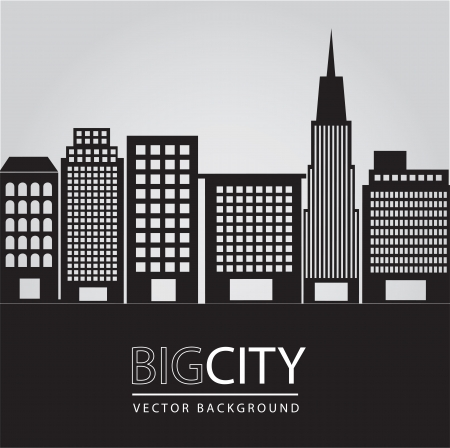 Big city illustration, conceptual image, vector illustration Stock Vector - 14375113