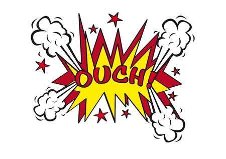 ouch: ouch explosion , pop art style. vector illustration