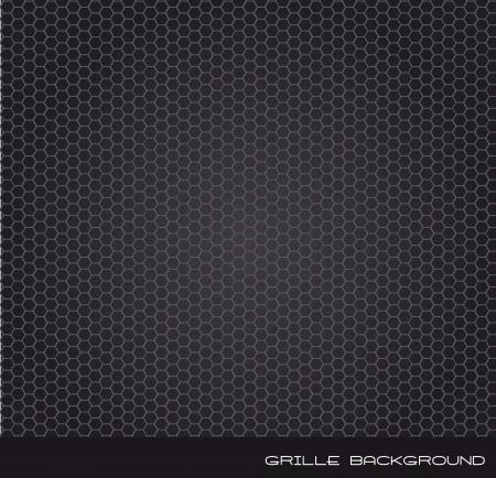 grille: grille speaker over black background. vector illustration