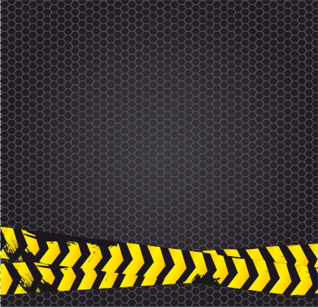 construction background with yellow tape. vector illustration Vector