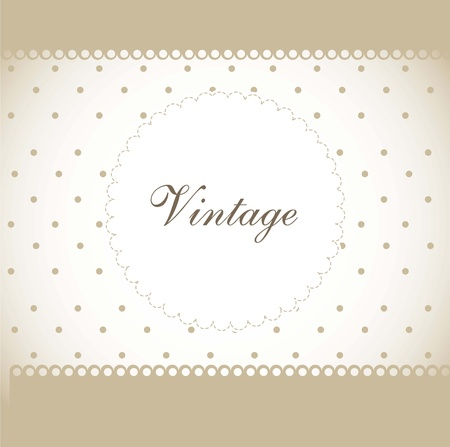 vintage postcard: vintage with dots and space for copy. vector illustration