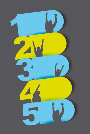 four in one: colorful design templates numbered over gray background. vector