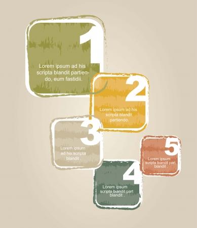 numbered: modelli di progettazione numerato, grunge. illustrazione vettoriale