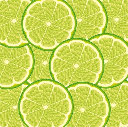 green lemon fruit background. vector illustration Stock Vector - 14374854