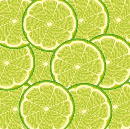 green lemon fruit background. vector illustration Stock Vector - 14374854