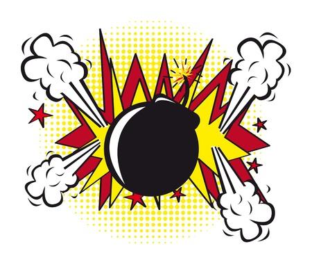 blank bomb: bomb pop art over white background. vector illustration