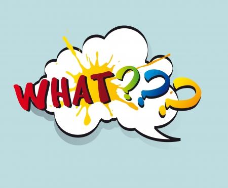 Question on pop art cloud. vector illustration