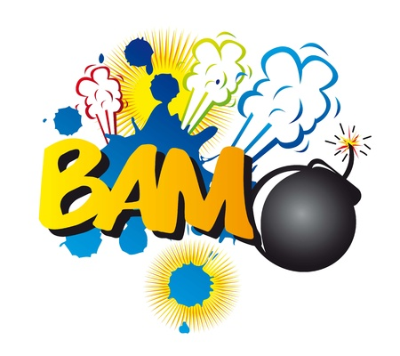 comic book explosion with bomb. vector illustration  Stock Vector - 14452556