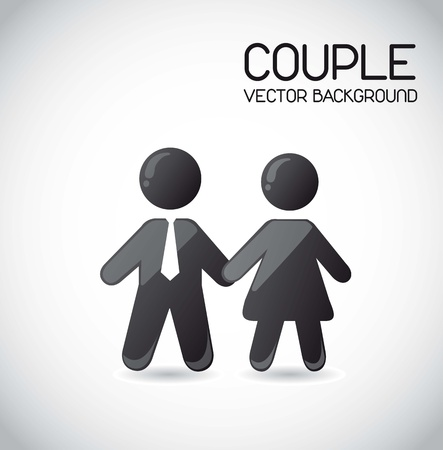 man shadow: couple icons over gray background. vector illustration