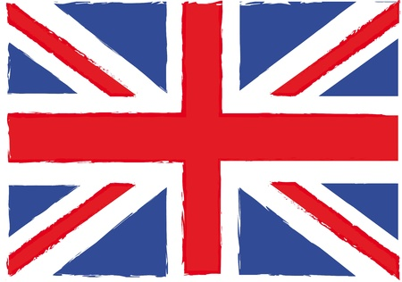 grunge flag london background. vector illustration Stock Vector - 14452553