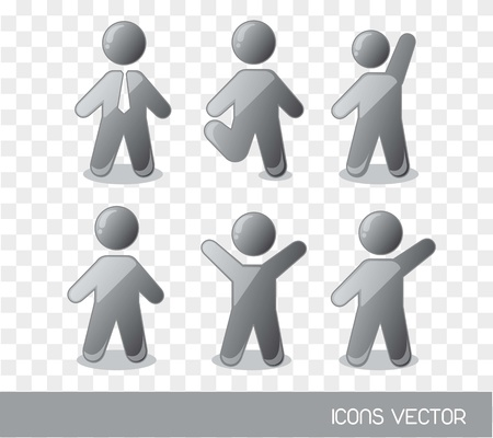 gray men sign over square background. vector illustration Stock Vector - 14452547
