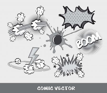 g�lle: gesetzt Comic, schwarz und wei�. Vektor-Illustration