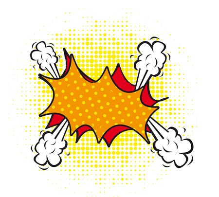 nuclear bomb: nubes blanco c�mica sobre fondo blanco. ilustraci�n vectorial Vectores
