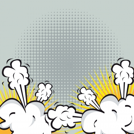 Illustration of an explosion or fight in comics. vector illustration Vector