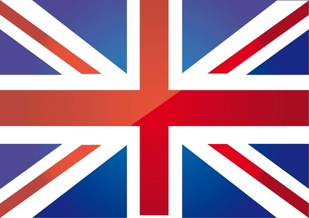 great britain: flag london background. vector illustration