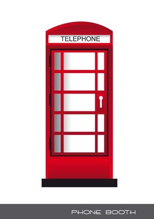 rode telefooncel, Londen. vectorillustratie