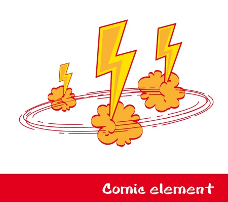 comic book explosion over white background. vector illustration   Vector