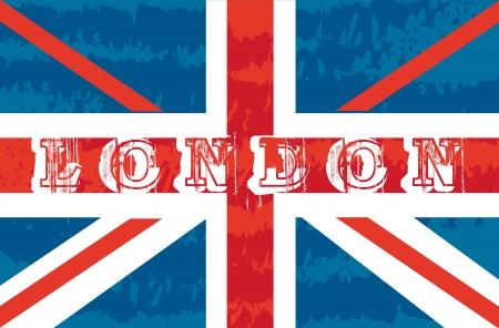 grunge flag london background. vector illustration Stock Vector - 14452594
