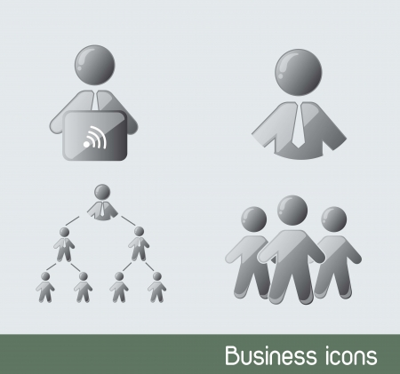 businessman icons with laptop. vector illustration Stock Vector - 14551390