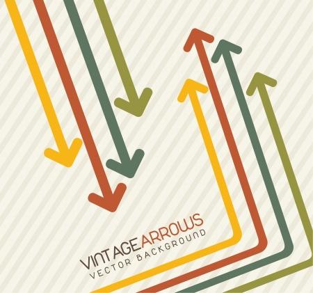 vintage arrows over brown background. vector illustration  Vector