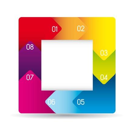 rainbow design of advertisement numbers. vector illustration Illustration
