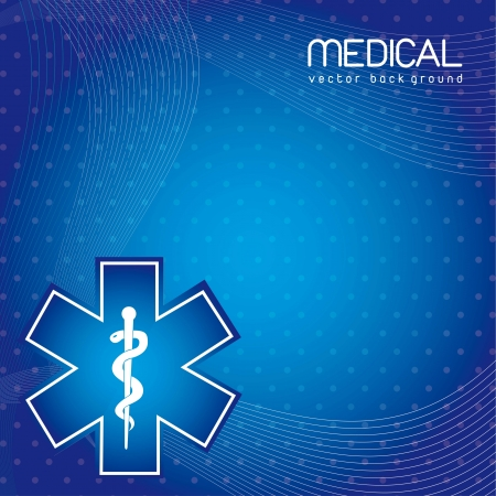 ekg: blue medical background with space for copy. vector illustration