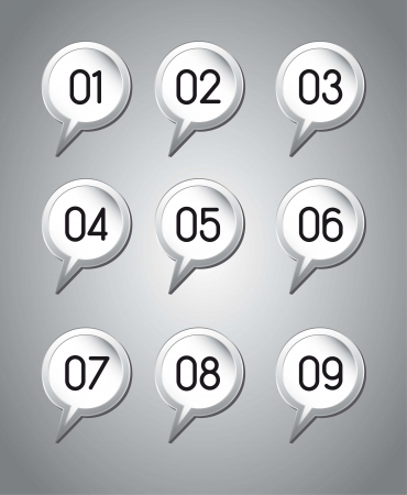 balloons text with numbers over gray background. vector illustration Vector