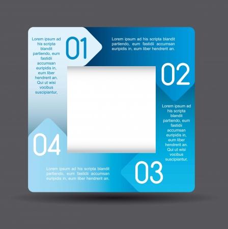 brochure layout: blue design of advertisement numbers. vector illustration Illustration