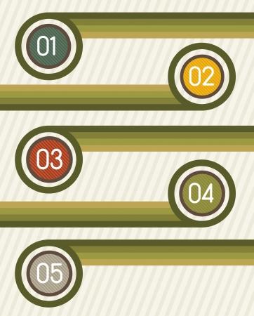 numbered: Modello Design creativo numerato, Vinge. illustrazione vettoriale