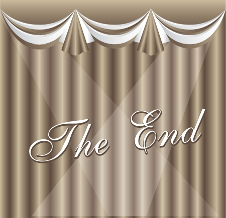 vintage movie ending screen with curtain, vintage. vector illustration Stock Vector - 14553007