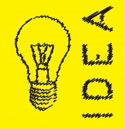 bulb in representation of an idea Stock Vector - 14655052