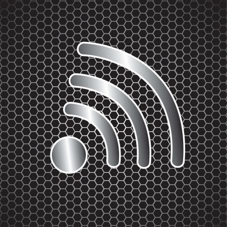 wifi access: Internet segnale simbolo illustrazione vettoriale Vettoriali