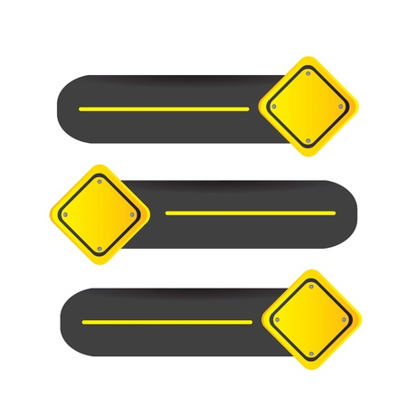 driving signal in different directions Stock Vector - 14653242
