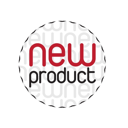new product: Seal new products over white background Illustration