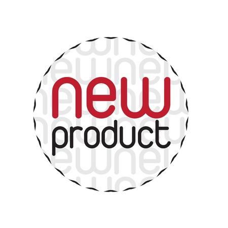 Seal nieuwe producten op een witte achtergrond