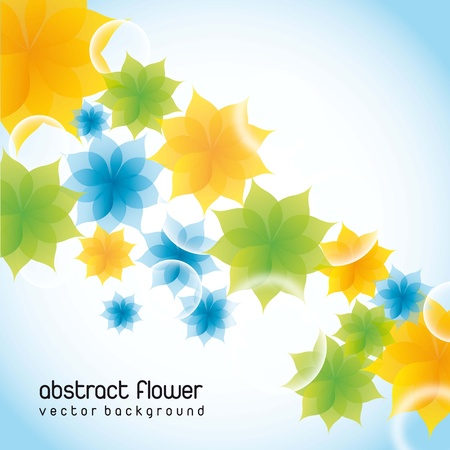 beautiful flowers over blue background. vector illustration Stock Vector - 14655024