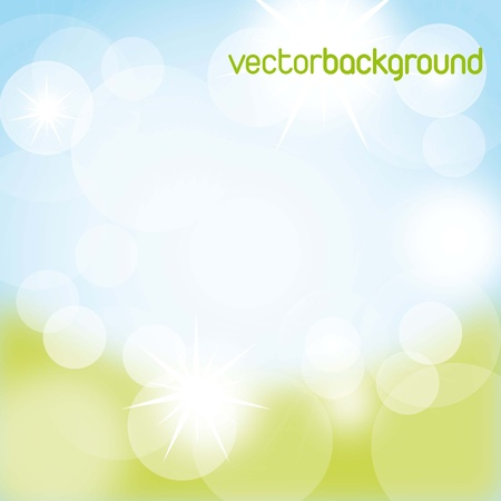 blue and green nature background. vector illustration Stock Vector - 14654540