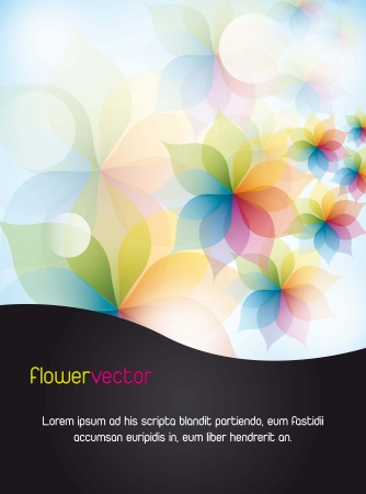 fuschia: colorful flowers with space for copy. vector illustration Illustration