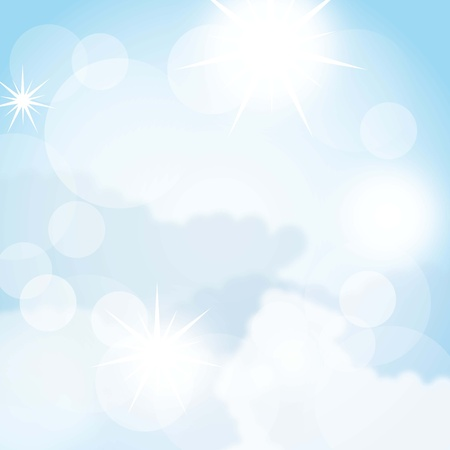 blue beautiful sky background. vector illustration Stock Vector - 14654992