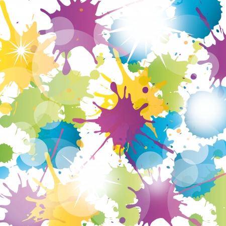 colorful splash over white background. vector illustration Illustration