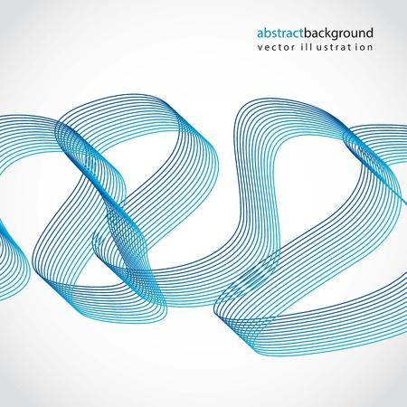 flujo de datos: ondas azules sobre fondo gris. ilustraci�n vectorial Vectores