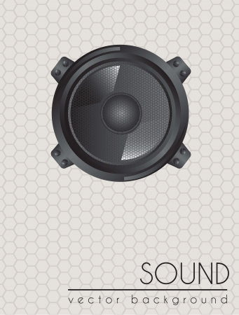 Big amplifier of sound. Vector Illustration Stock Vector - 14653271