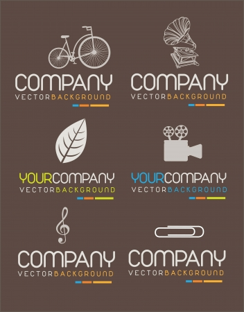 various symbols of company. Vector illustration  Vector